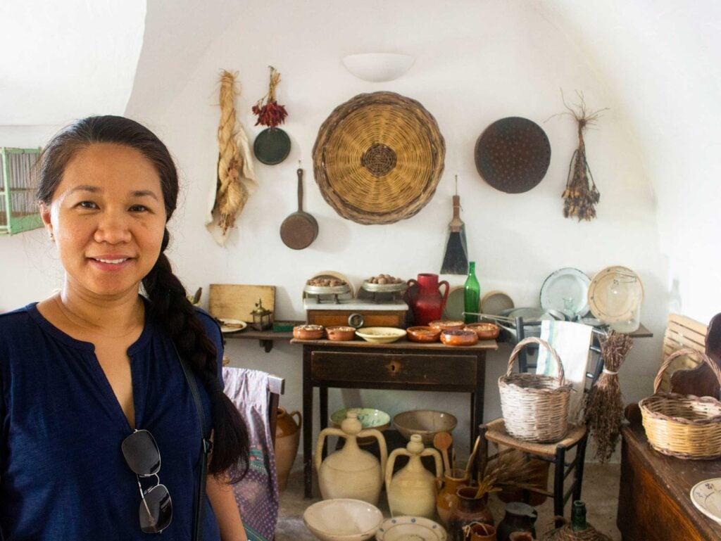 An image taken in a kitchen in a trullo, Puglia.